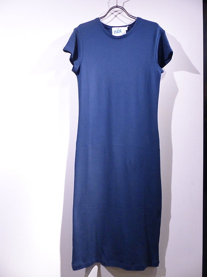 ワンピース ドレス Tシャツ コットン ハイク HAiK ネイビー グレー シンプル ミニマル ファッション 通販
