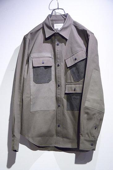 HAAR SCOTLAND Multi Pocket Shirt Made in Scotland ハースコットランド  マルチポケット シャツ