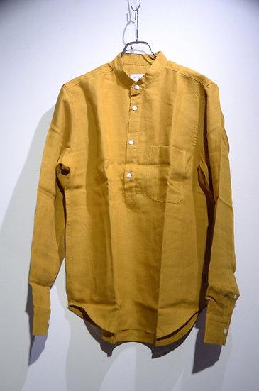 HAAR SCOTLAND Pullover Linen Shirt Made in Scotland ハースコットランド リネン スタンドカラーシャツ