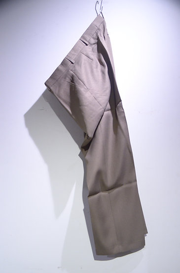 DEADSTOCK Vtg 80 - 90s San Rosa Poly Trousers BEG Made in UK デッドストック ポリ トラウザース