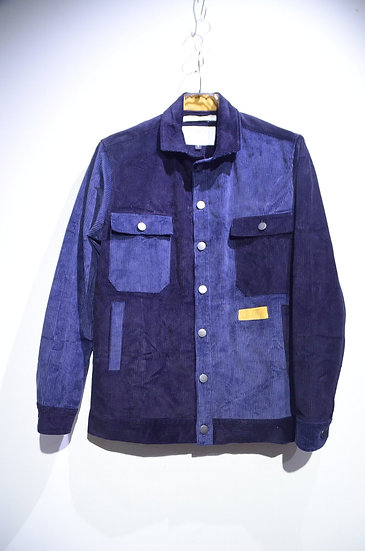 BEE Outerwear Corduroy Patchwork Shirt Jacket Made in UK ビーアウターウェア コーデュロイ ジャケット