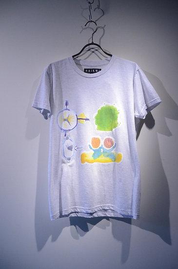 ハイク ブランド プリント Tシャツ 夏 ファッション カラフル モノトーン カジュアル オーバーサイズ ビッグシルエット
