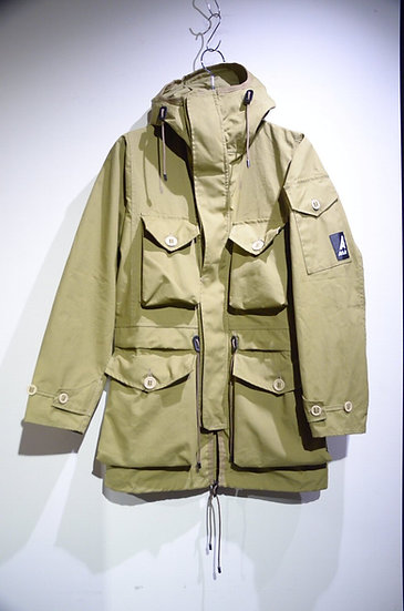 19SS Ark Air UNLINED COMBAT SMOCK JACKET STONE Made in UK アークエアー スモック コンバットジャケット