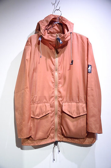 Ark Air RAIN UNLINED JACKET RUST Made In ENGLAND アークエアー ポケッタブル ナイロンジャケット