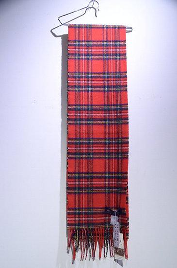MOON Merino Lambswool Muffler Tartan Slim Made in UK ムーン タータンチェック ラムウールマフラー