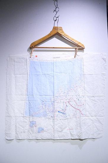 VTG 1958s British RAF SAS Escape Map Tromso Murmansk イギリス空軍 エスケープマップ ノルウェー ロシア