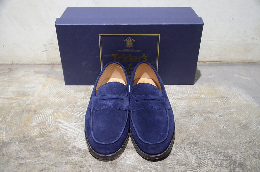 Tricker's Chicago Navy Suede Loafer Made in England トリッカーズ スウェード ローファー