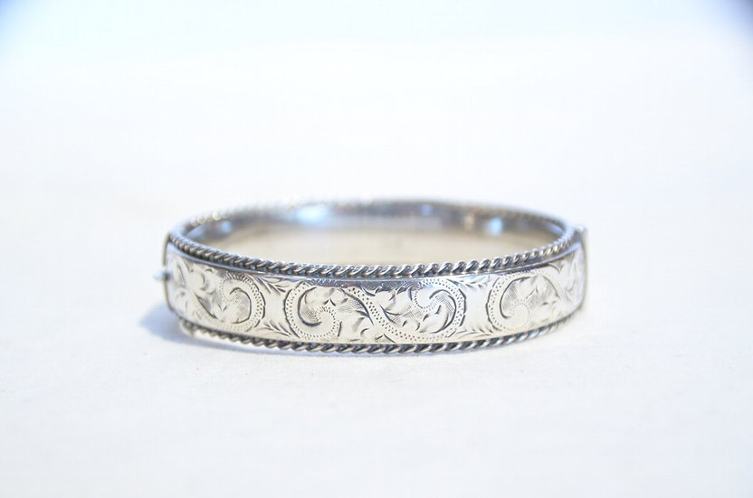1961s Vintage British Silver Bangle Made in ENGLAND Owen Powell ヴィンテージ シルバーバングル
