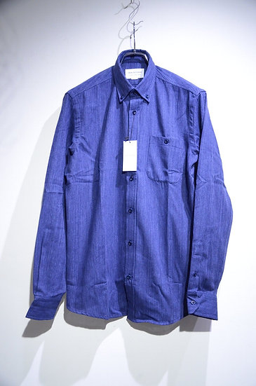 Tripl Stitched B.D. Shirt Japanese Cotton NAVY Made in London トリプルステッチ ボタンダウンシャツ