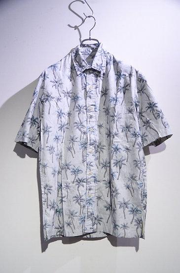 USED 80's Island Traditions Tree Print Shirt Made In Hawaii ヴィンテージ ヤシの木 プリントシャツ