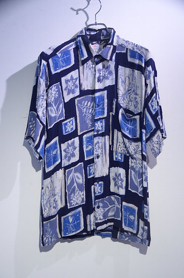 USED 80's Paradise of the Pacific Rayon Flower Made In USA ヴィンテージ レーヨンシャツ