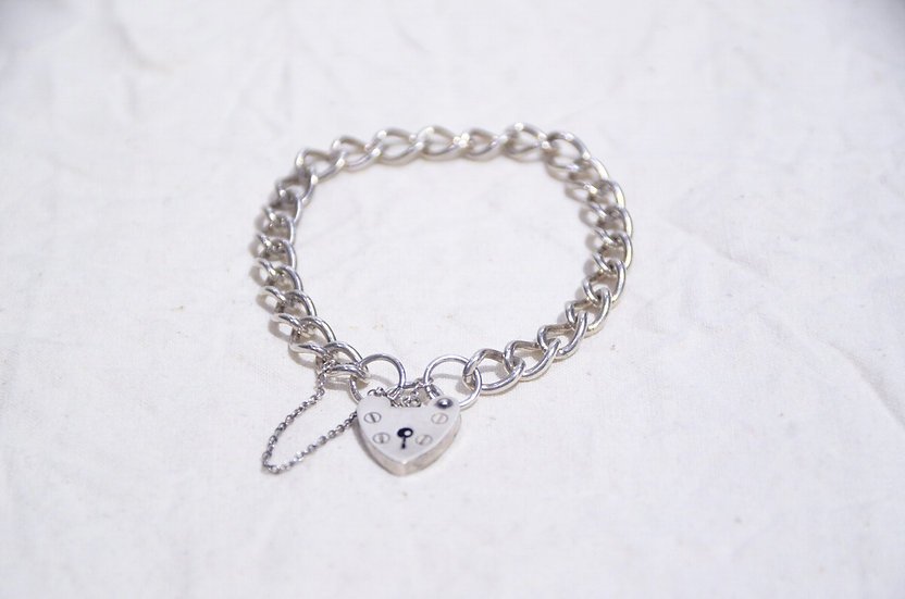 1977s British Vintage Silver Charm Bracelet Made in UK ASJ ヴィンテージ チャーム ブレスレット