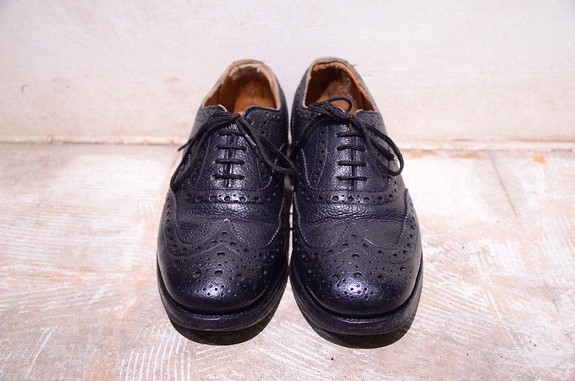 イギリス軍 サンダース サービスシューズ レザー ミリタリー ウイングチップ 革靴