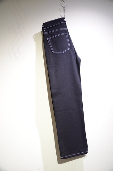 AVENUE Otto Jeans White Stitched Black Denim Made in China アベニュー オットジンーズ ブラックデニム