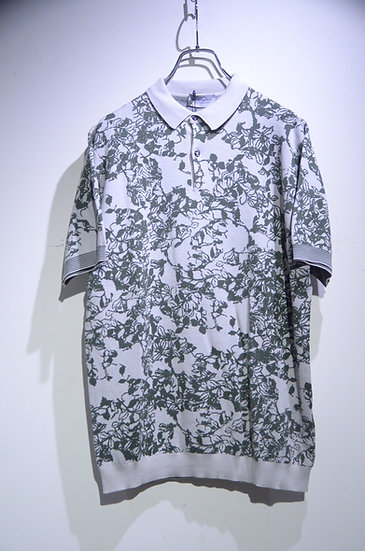 John Smedley Sea Island Cotton Fyn Birdeye Polo shirt ジョンスメドレー ニット 柄 ポロシャツ