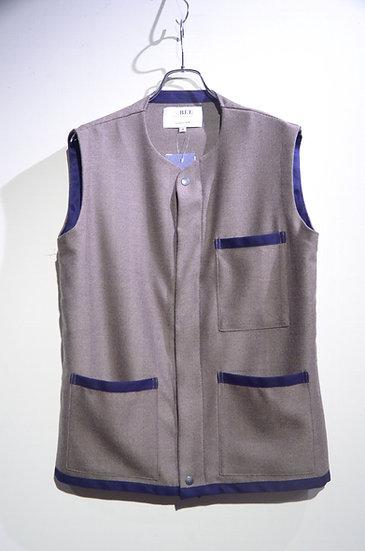 BEE Outerwear Tweed Harringbone Vest Brown London Made ビーアウターウェア ヘリンボーンベスト