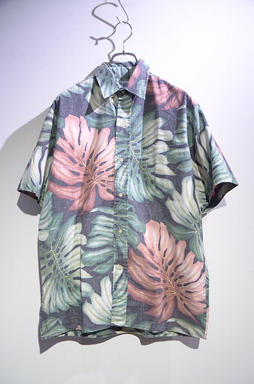Used 90's Reyn Spooner Flower Print Shirt Made In Hawaii レインスプーナー プルオーバーシャツ