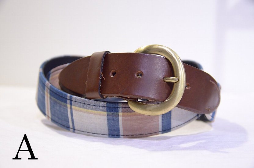 DEADSTOCK 60 - 80s HICKOK PIONEER Canvas Leather Belt Made in USA ハイコック チエックベルト