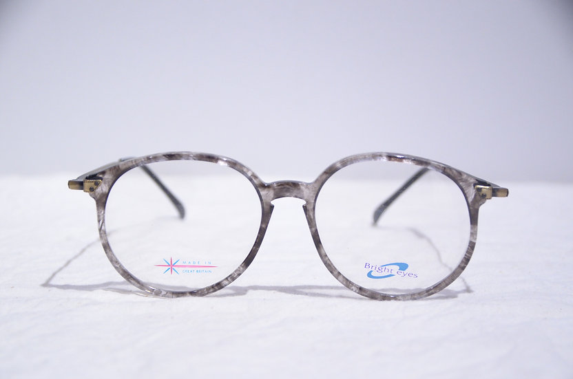 DEADSTOCK 80 - 90's Vintage Oval Glasses Made in England Gray ヴィンテージ 眼鏡 イギリス製