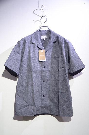 HAAR SCOTLAND Cotton Linen Camp Shirt Gray Made in Scotland ハースコットランド リネン 開襟シャツ