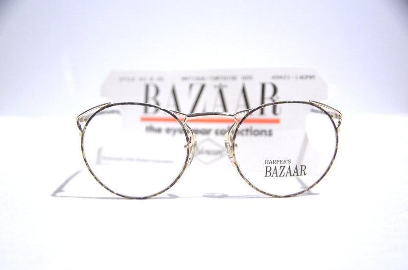 Deadstock Vintage Harper's BAZAAR Zyloware Made in Italy ヴィンテージ 金縁眼鏡 イタリア製