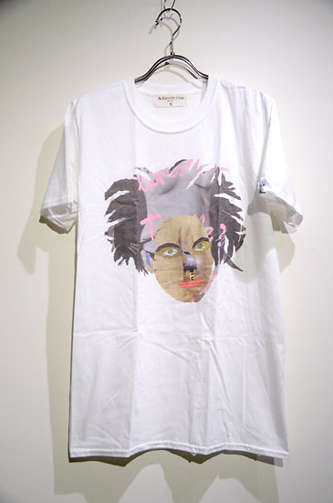 The old curiosity shop Face Print Tee shirt Made in UK オールドキュリオシティ フェイス プリントT