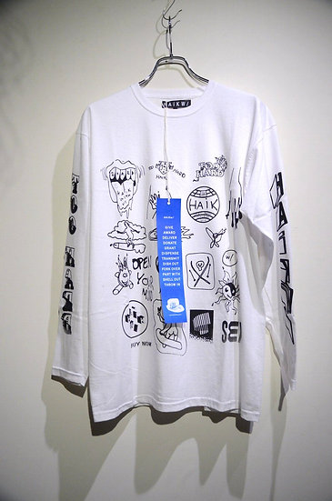 "HAiK w/ x ""Too Hard"" Sp Silk Screen Print Long Sleeve WH Handmade in Norwa"