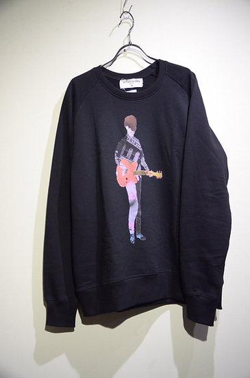 The old curiosity shop Guitar Print Sweat Shirts Made in UK オールドキュリオシティ スウェットシャツ