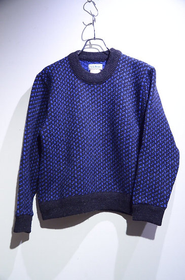 Used Vtg 70 - 80s VTG L L Bean Wool Sweater Made in Norway LLビーンノルウェー製 クルーネックニット