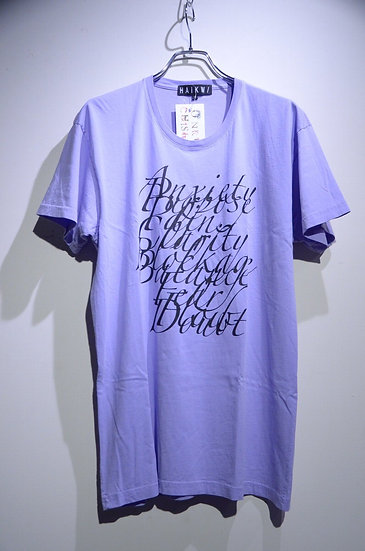 HAiK w/ Alphabet Graphics T-shirts Purple Made in Lithuania ハイク テキスト デザイン Tシャツ