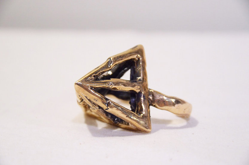 LAS Jewelry Two Finger Pyramid Ring Made in Los Angeles ラスジュエリー ツーフィンガー ピラミッドリング
