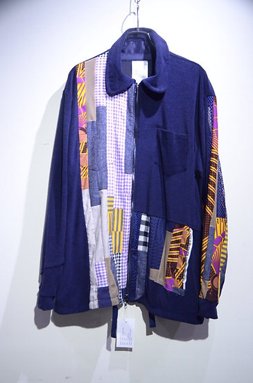 HAiK w/ Patch Work Shirt Jacket B Made in Norway ハイク ウィズアス  パッチワーク シャツジャケット