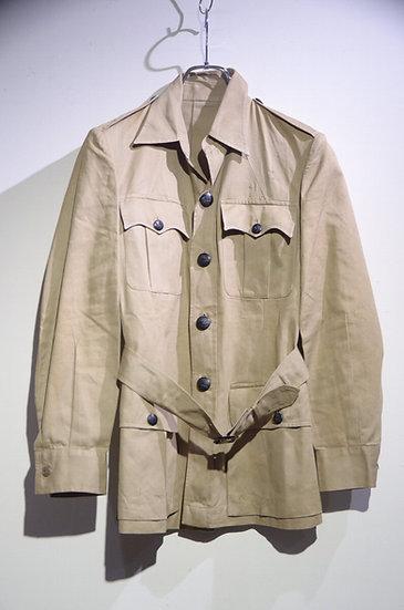 Vintage 1940s RAF Officers Khaki Drill Bush Safari Jacket イギリス空軍 カーキ ブッシュジャケット