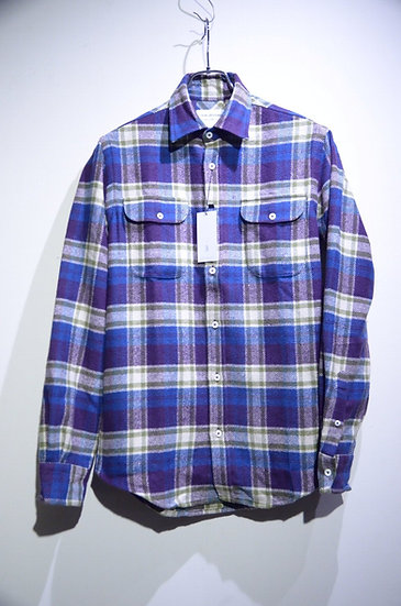 Tripl Stitched Check Flannel Overshirt Made in London トリプルステッチ チェック オーバーシャツ