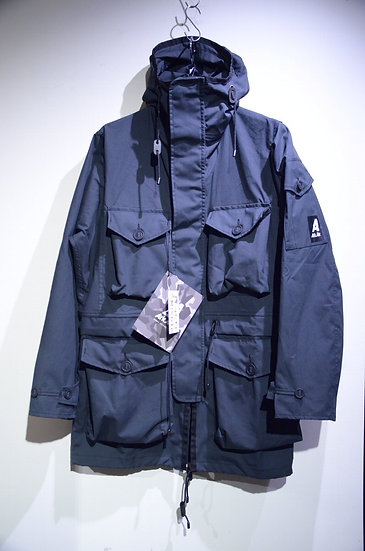 19SS Ark Air UNLINED COMBAT SMOCK JACKET BLACK Made in UK アークエアー スモック コンバットジャケット