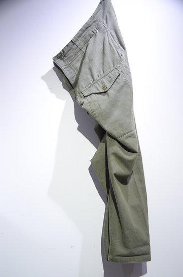 Used Vintage 1952 British Army GREEN DENIM Size 12 Trousers イギリス軍 グリーンデニム トラウザース