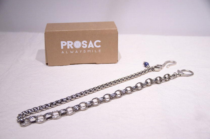 Prosac Always Smile Silver Hook Metal Chain L Handmade in Italy プロザック シルバー チェーン