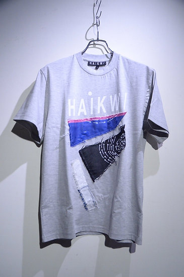 HAiK w/ Patch Work Design T shirt Mid Made in Lithuania ハイク ウィズアス  パッチワーク Tシャツ