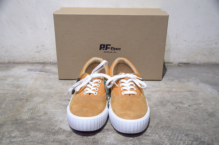 PF Flyers Suede & Canvas Windjammer Yellow MADE IN USA ピーエフフライヤー ウィンドジャマー スニーカー