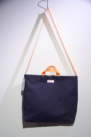 BEE Outerwear Waxed Canvas Shopper Tote Bag Navy Made in London 2way キャンバストートバッグ