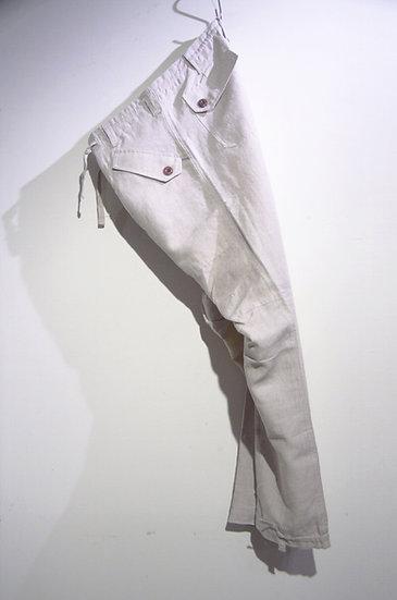HAAR SCOTLAND Linen Fatigue Loose Tapered Pants NR ハースコットランド リネン ファティーグパンツ