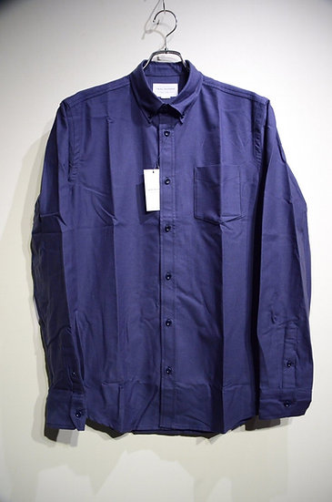 Tripl Stitched Button Down Shirt NAVY Oxford Made in London トリプルステッチ オックスフォード