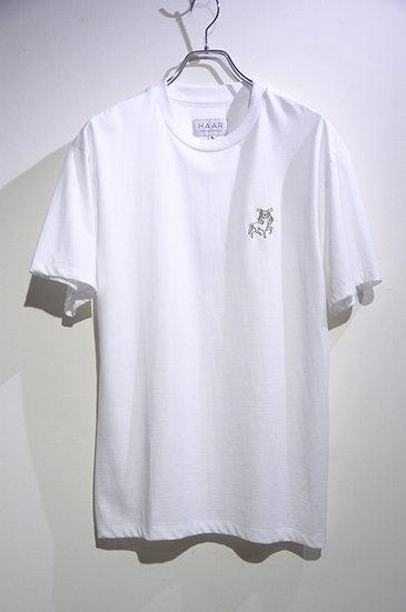 HAAR SCOTLAND Embroidered Horseman T Shirt Made in Scotland ハースコットランド 刺繍 Tシャツ