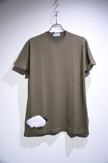 John Smedley Sheep Icon Wool Unisex-T Made in England ジョンスメドレー ユニセックス ウールTシャツ 刺繍
