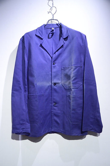 60s Vtg Dead Stock Euro Work Blue Jacket Sun Burst Made in Europa ユーロワークジャケット