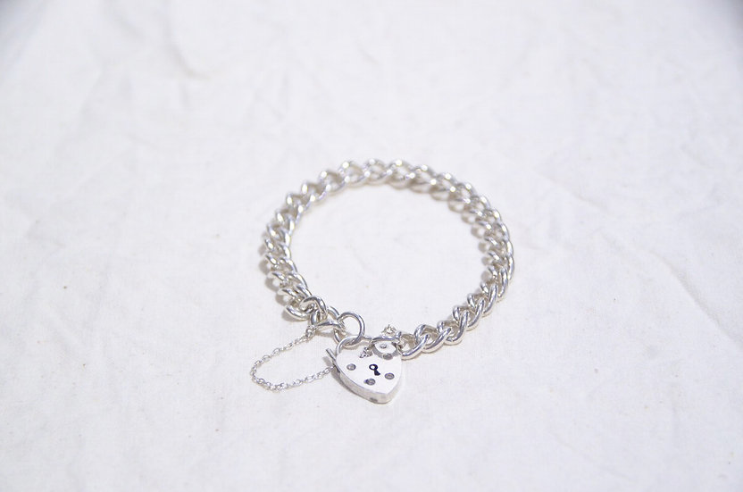 1977s British Vintage Silver Charm Bracelet Made in UK SD ヴィンテージ チャーム ブレスレット