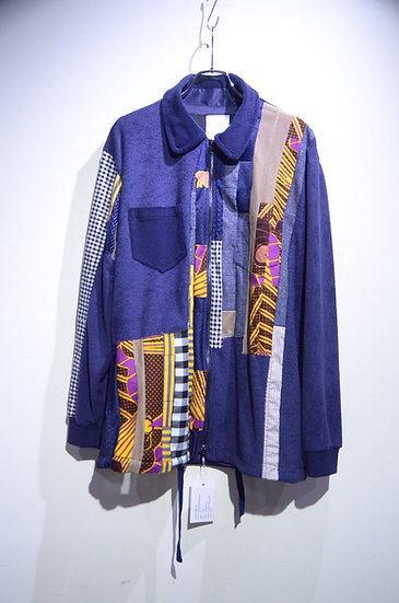 HAiK w/ Patch Work Shirt Jacket A Made in Norway ハイク ウィズアス  パッチワーク シャツジャケット