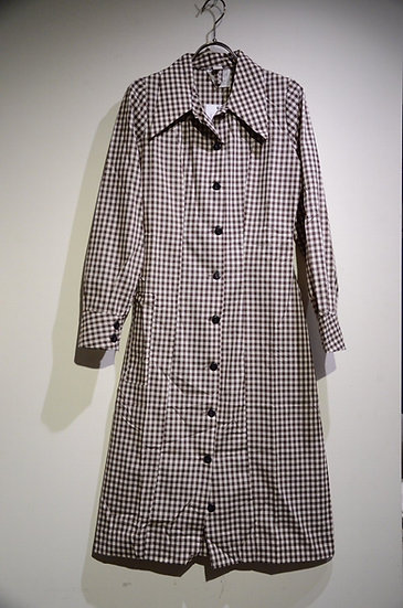 DEADSTOCK 70s Vintage Work Shirts Dress Gingham check Made in UK ヴィンテージ シャツワンピース