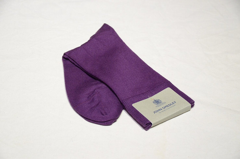 John Smedley SIGMA Purple Socks Made in England ジョンスメドレー ソックス
