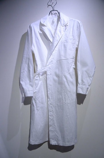 DEADSTOCK 50 - 60s VTG Tielocken Nurse Work Coat Made in UK ヴィンテージ ワーク タイロッケンコート